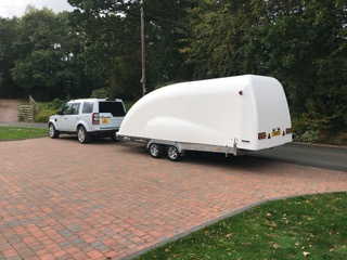 Classic Car Storage UK trailer for vehicle transportation.