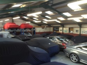 Luxury and Classic cars in storage at our Classic Car Storage UK facilities.