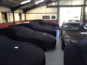 Luxury Cars in storage at Classic Car Storage UK.