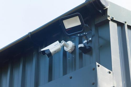 CCTV Security Cameras at Classic Car Storage UK.