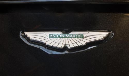 Aston Martin badge.