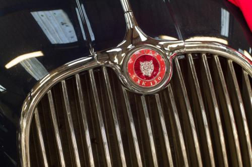 Jaguar XK 150 badge.