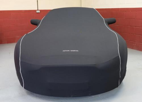 Classic Aston Martin under an Aston Martin car cover at Classic Car Storage UK.